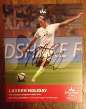Lauren Holiday - 2015 World Cup Soccer Champs Autograph 8 x10 Signed Pro... - $38.61