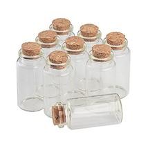 TAI DIAN 25ml Glass Bottles with Cork Small Transparent Mini Empty Bottle Glass
