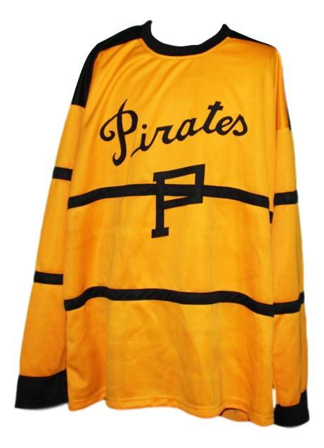 Custom Name # Pittsburgh Pirates Retro Hockey Jersey New Yellow Any Size