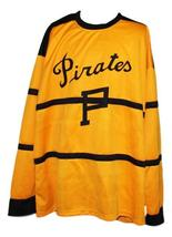 Custom pittsburgh pirates retro hockey jersey yellow 1 thumb200