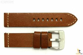 20mm Brown Smooth Leather Watch Band Strap Fits Luminox Anti-Allergic He... - $34.15
