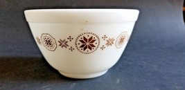 Pyrex 401 Town and Country Brown Stars Mixing Bowl  1.5 pint - $6.95