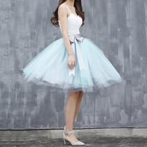 6-Layered White Midi Tulle Skirt Puffy White Ballerina Skirt image 9