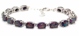 "Black Fire OPAL SILVER 925 BRACELET 6.5"" to 7,5"" - $35.00"