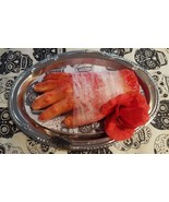 HALLOWEEN HAUNTED HOUSE bloody hand table PROP BODY ORGAN PARTY PLATTER ... - $32.92