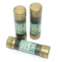 LOT OF 3 BUSSMANN NON 40 ONE-TIME FUSES NON40, 250V