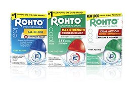Rohto Cool Max Maximum Redness Relief Cooling Eye Drops, 0.4 Ounce, 3 Count image 8