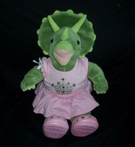 """17"""" Build A Bear Green Dinosaur Dino Pink Outfit Shoes Stuffed Animal Toy Plush - $23.38"""