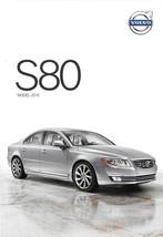 2015 Volvo S80 sales brochure catalog folder US T5 T6 AWD - $8.00