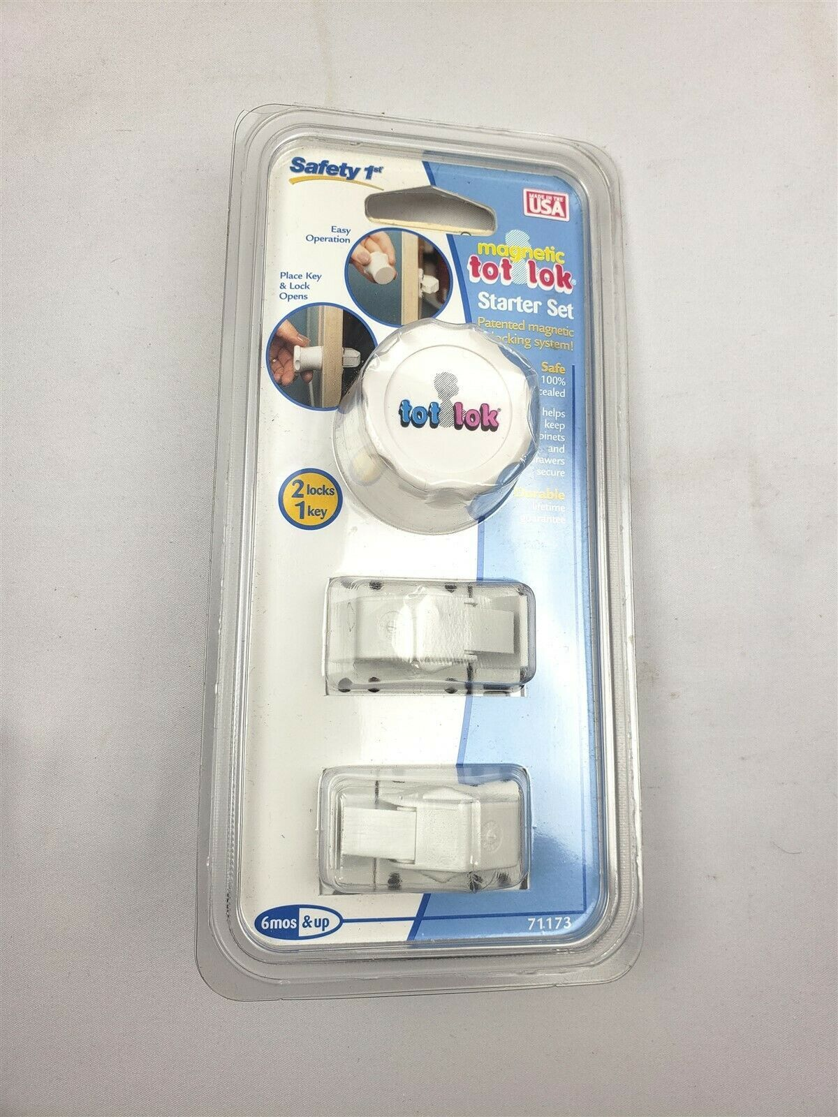 Safety 1st Magnetic Tot Lok Starter Set System w/ 2 Locks & Key New in Package