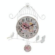Accent Plus Wall Clock Analog, Birdcage Kitchen Vintage Bedroom Decor Decorative - $214.89