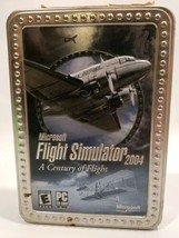 Microsoft Flight Simulator 2004 A Century of Flight Tin Metal Box Disc M... - $14.52
