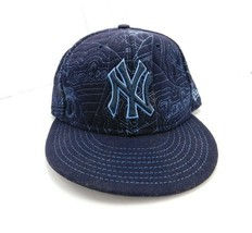 """New York Yankees Baseball MBA Sports Hat Cap Fitted Blue 7 1/4""""  58cm  - £9.53 GBP"""