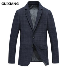 "GUIXIANG 2017 autumn British style Men""s suits casual fashion grid blaze... - $109.40"
