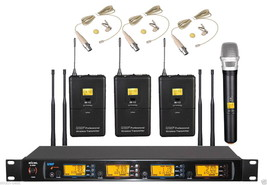 EM26 UHF Wireless Microphone System 3 Beige Lavalier Wallet Bodypack 1 H... - $395.01