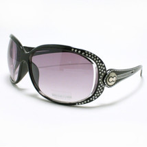 Womens Oversized Sunglasses Round Unique Designer Frame BLACK - $6.88
