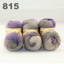 6x50gr Skeins NEW Chunky Hand Coarse Knitting Scores wool yarn Purple Grey 815 - $51.00