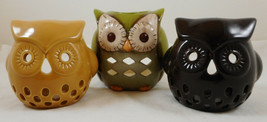 Set of 3 Owl Tealight Candle Holders - $12.86