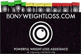 Bony Weightloss: Mixed Flavor 60 Count Sticks with Garcinia Cambogia, Gr... - $39.61