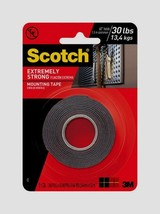 "SCOTCH MOUNTING TAPE Holds 30 lbs Double Sided Hang EXTREMELY STRONG 1""W... - £10.53 GBP"
