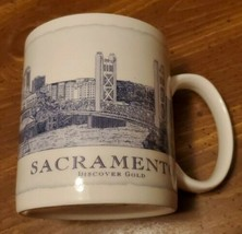 Starbucks Sacramento Architecture Collection Mug 2006 Discover Gold  - $14.85