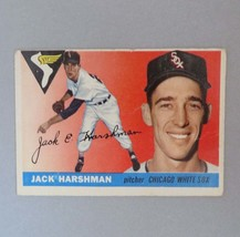 Jack Harshman Baseball Card, 1955 TOPPS Baseball Card, #104, Chicago White Sox P - $12.00
