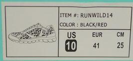 Crazy Train RUNWILD14 Black Red Cheetah Sneakers Size Ten image 10