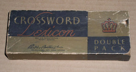 Crossword Lexicon Card Game Vintage 1938 Parker Brothers - $19.99