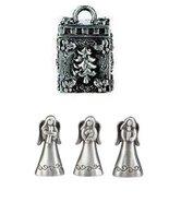 Ganz Prayer Box Trinket - Triple Angels Christmas Charm Pewter - $7.28