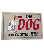 "Dog is in Charge Here Doormat Door Mat by High Cotton 18"" by 27"" dog cat... - $19.99"