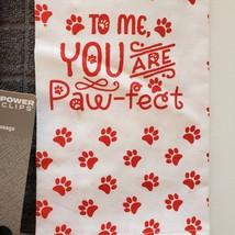 Dog Lover Kitchen Set, 7-pc, Pet Decor, Tea Towels, Clips, Red Grey image 3