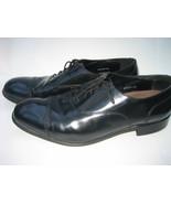 Men Black FLORSHEIM Dress Oxford Cap-toe Leather Shoes, Size 13 D - $55.00