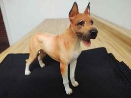 Large ceramic Belgian Malinois German shepherd dog figurine #173 - $47.50