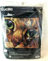 Bucilla Cat Eyes Pillow Kit New/Unopened Needlepoint 14X12 Vtg 1997 Nanc... - $44.54