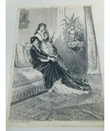 """Antique P.O.Vickery""""Good News From Home"""" 1882 Picture Print  Augusta M... - $34.99"""