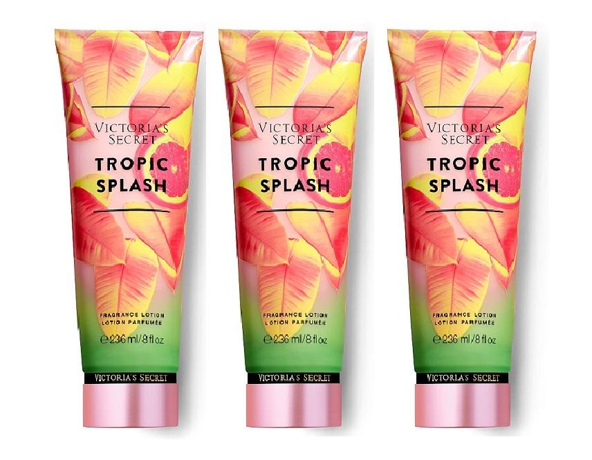 Victoria's Secret Tropic Splash Fragrance Lotion - Citrus Mango Punch 8 oz x3 - $68.50
