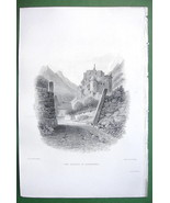 ITALY Alps Castle Gastenbell near Bolzano - SCARCE 1836 Antique Print En... - $26.01