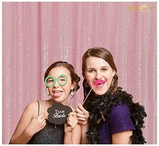 Pink-Photo Booth Wedding Props-Sequin Fabric Backdrops Sweets for Weddin... - £13.68 GBP