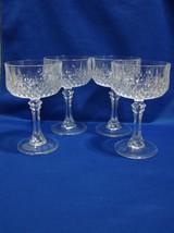 4 Cristal d'Arques Longchamp Crystal Sherbet Champagne Glasses EUC - $15.90