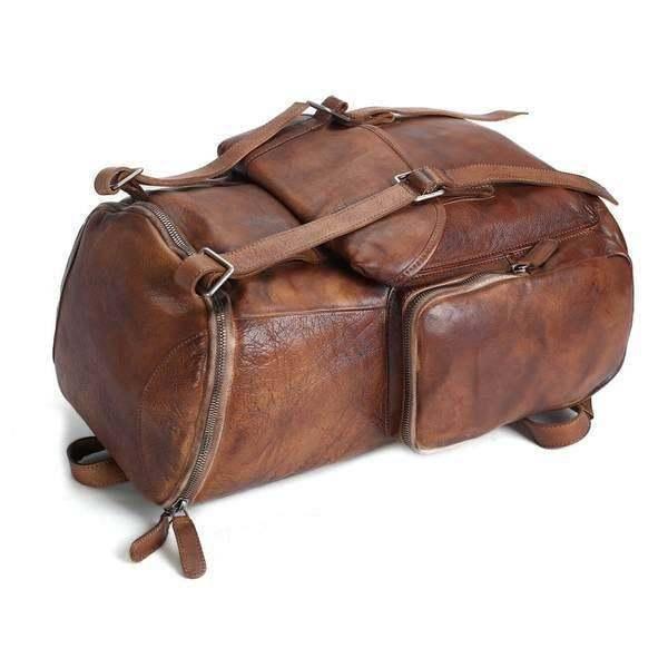 Sale, Vintage Handmade Leather Backpack, Men's Leather Backpack, Travel Backpack image 2