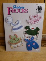 Fridge Frocks  Crochet Magnets an Original Annies Attic Pattern Booklet - $15.83