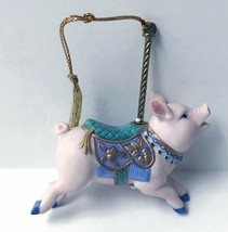 LENOX CAROUSEL PIG ORNAMENT 1989 CHRISTMAS ANIMAL HOLIDAY TREE w/BOXES - £26.73 GBP
