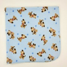 Just Born Baby Boy Blanket Puppy Dog Blue Balls Light Security Fleece  B97 - $19.99