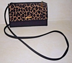 NINE WEST Polyester Fabric Brown & Animal Print Cross Body Shoulder Bag - $13.36