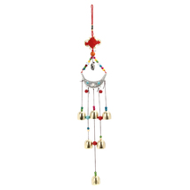 2016 Newest Lucky Elephant Wind Chimes Copper 6 Bells Outdoor Living Yard Garden - $20.00