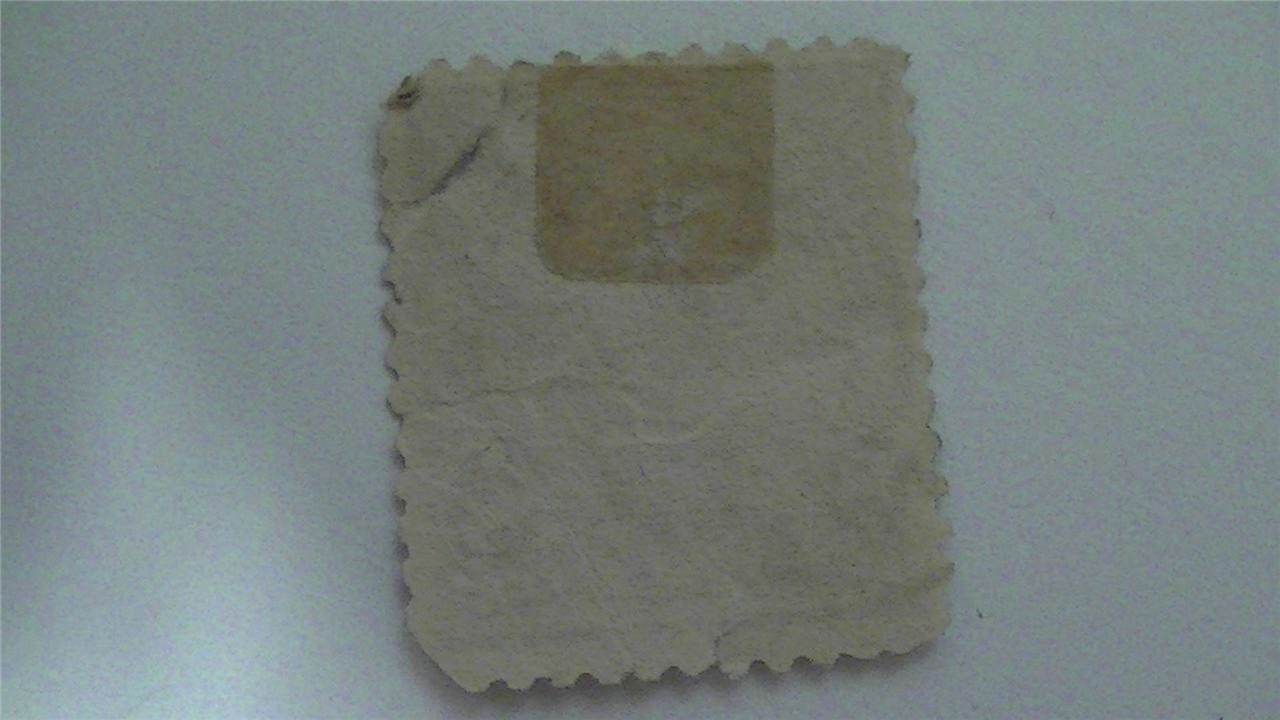Old Sherman Violet Brown Vintage USA Used 8 Cent Stamp