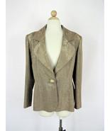 Vintage Dressy Blazer Givenchy Couture Gold Silk Lurex Blazer FR 42 / L - $354.42