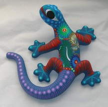 Ceramic Clay Lizard Salamander Figurine Hand-painted Mexican Wall Art 10... - $27.72