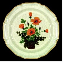 Dinner Plate Petunias by MIKASA Stoneware Garden Club Yellow EC401 Width... - $13.85