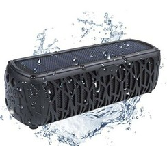 Solar Powered Portable Bluetooth Speaker w/ 5000mAh USB Charger, Water-R... - $46.74